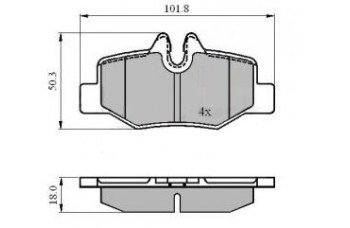 MERCEDES VITO REAR BRAKE PADS SET