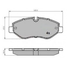 MERCEDES VITO FRONT BRAKE PADS SET