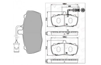 DISC PADS FRONT TX4