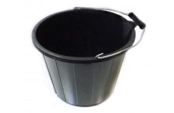BLACK PLASTIC HEAVY DUTY BUCKET