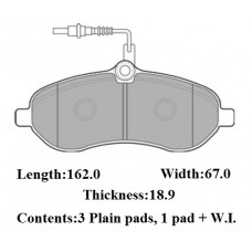 FRONT DISC PADS PEUGEOT EXPERT E7 07-