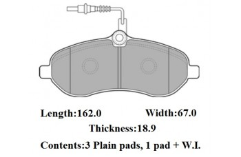 FRONT DISC PADS PEUGEOT EXPERT E7 07-