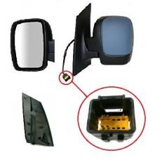 PEUGEOT EXPERT E7 DOOR/MIRROR LH 07- HEATED ELECTRIC ADJUST - COLOUR PRIMER
